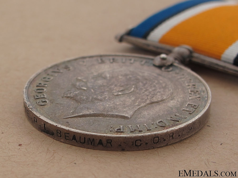 British War Medal - Central Ontario Regiment