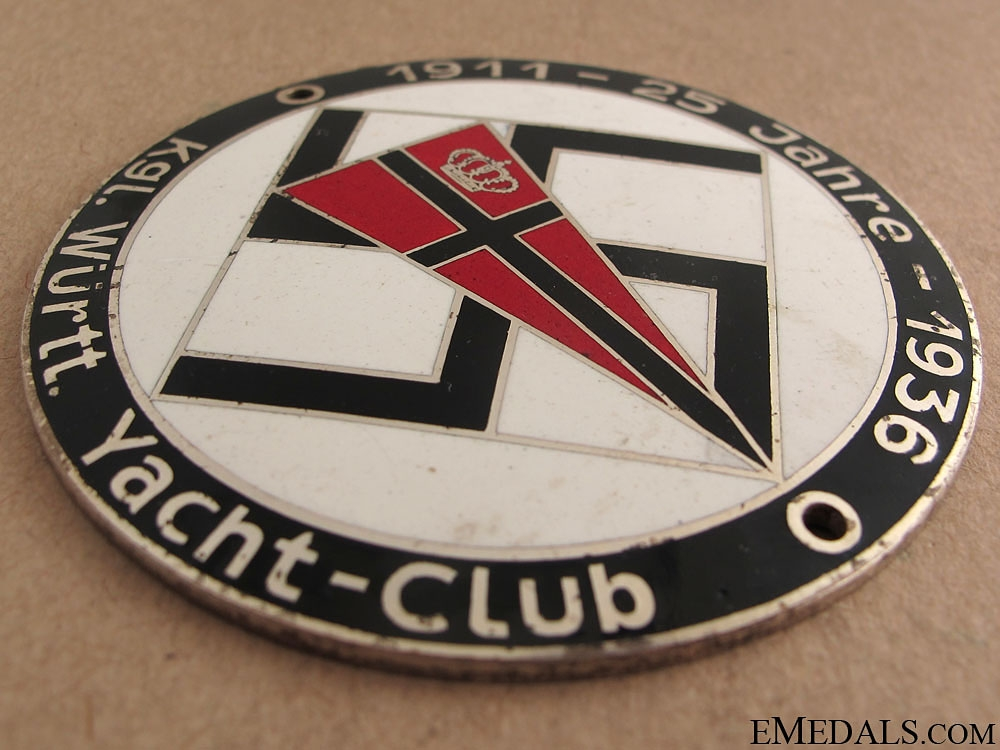 Royal W¡_rttemberg Yacht-Club Medal, 1936
