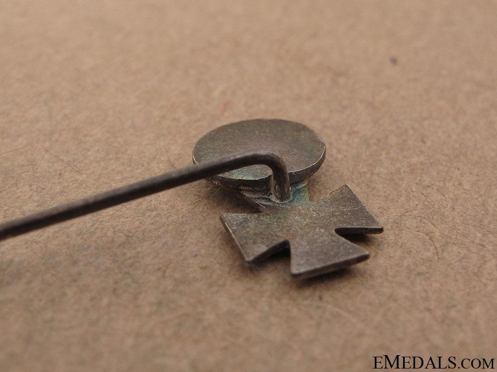 1939 Iron Cross & Silver Wound Badge Stickpin