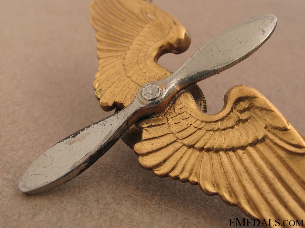 WWII Army Air Corps Cadet Visor Cap Wing
