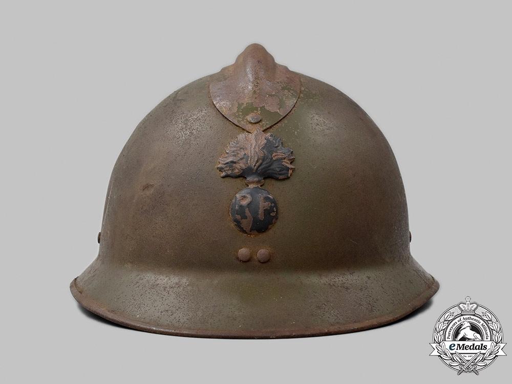 France, III Republic. A M1915 Colonial or Legion Troops Adrian Infantry Helmet