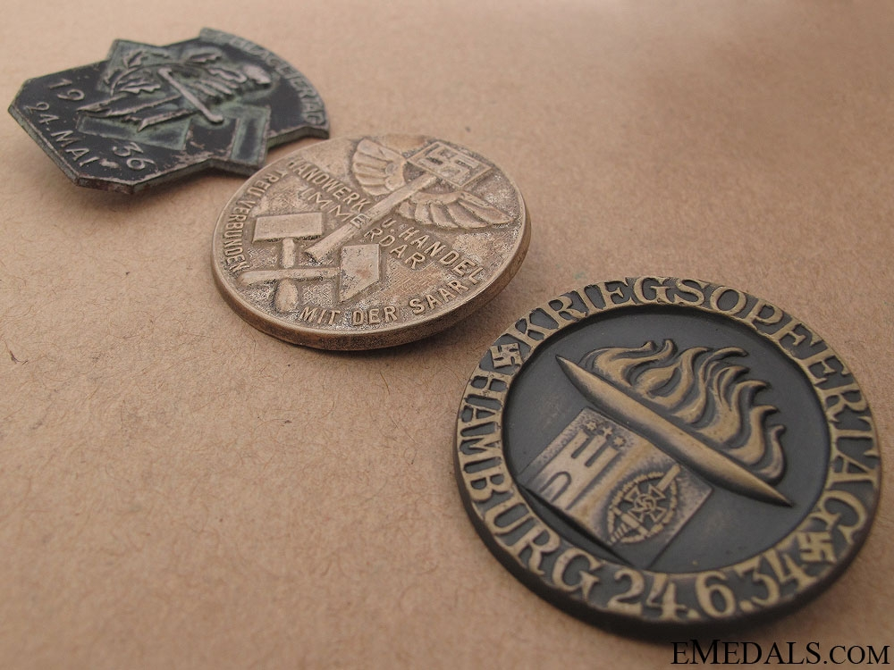 Three German Tinnies & Badges