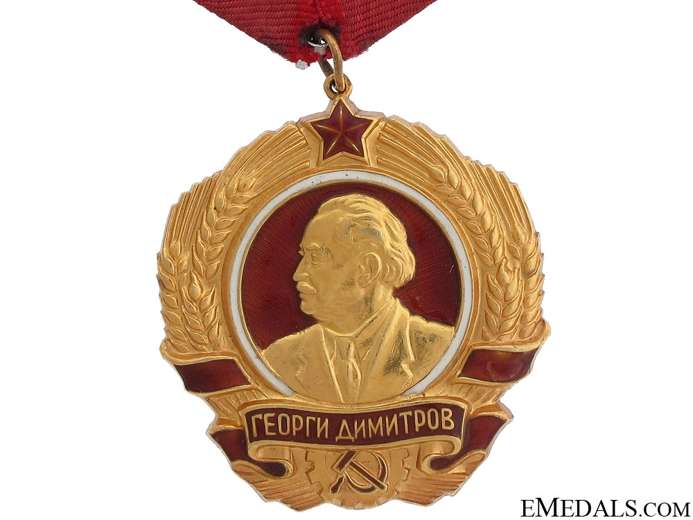Order of Georgi Dimitrov in Gold