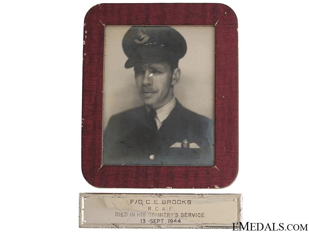 A Birks Bar Memorial Group to Pilot C.E.Brooks RCAF