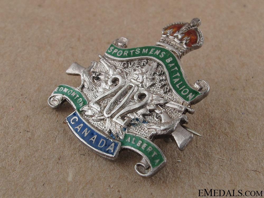 WWI 202nd Edmonton Sportsmen's Battalion Pin