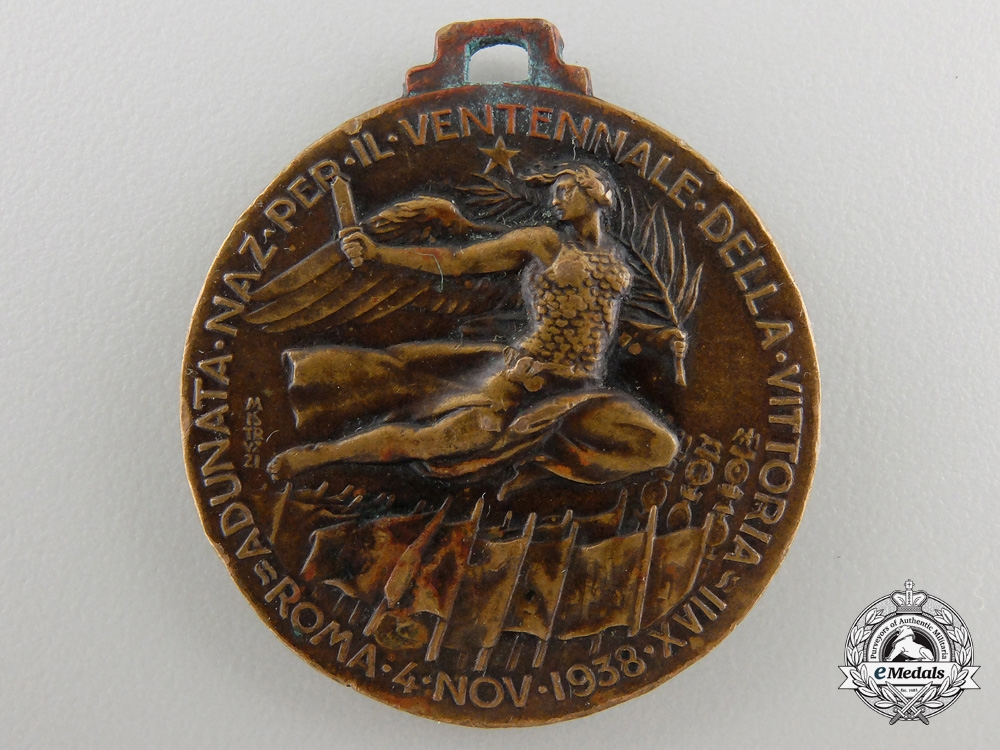 An 1938 Italian Twentieth AnniversaryCombatantsMeeting Medal
