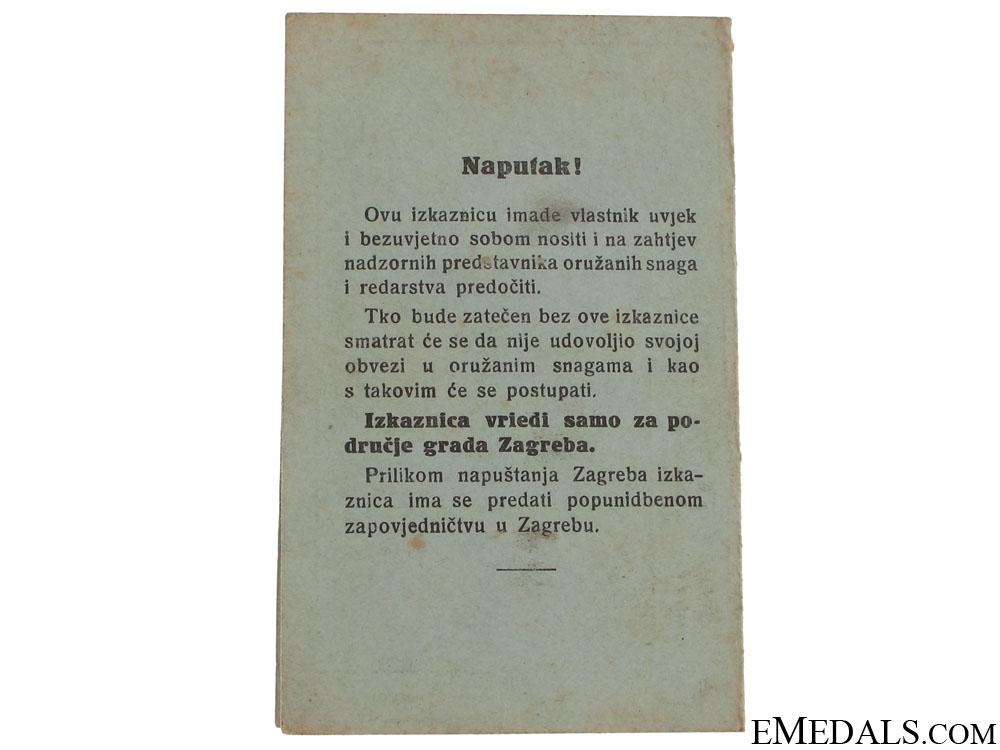 Croatian ID's + 1945 Calendar/booklet