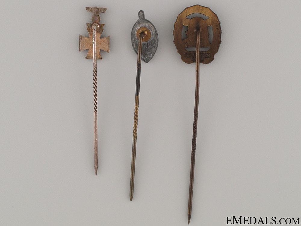 Three Third Reich Period Stickpins