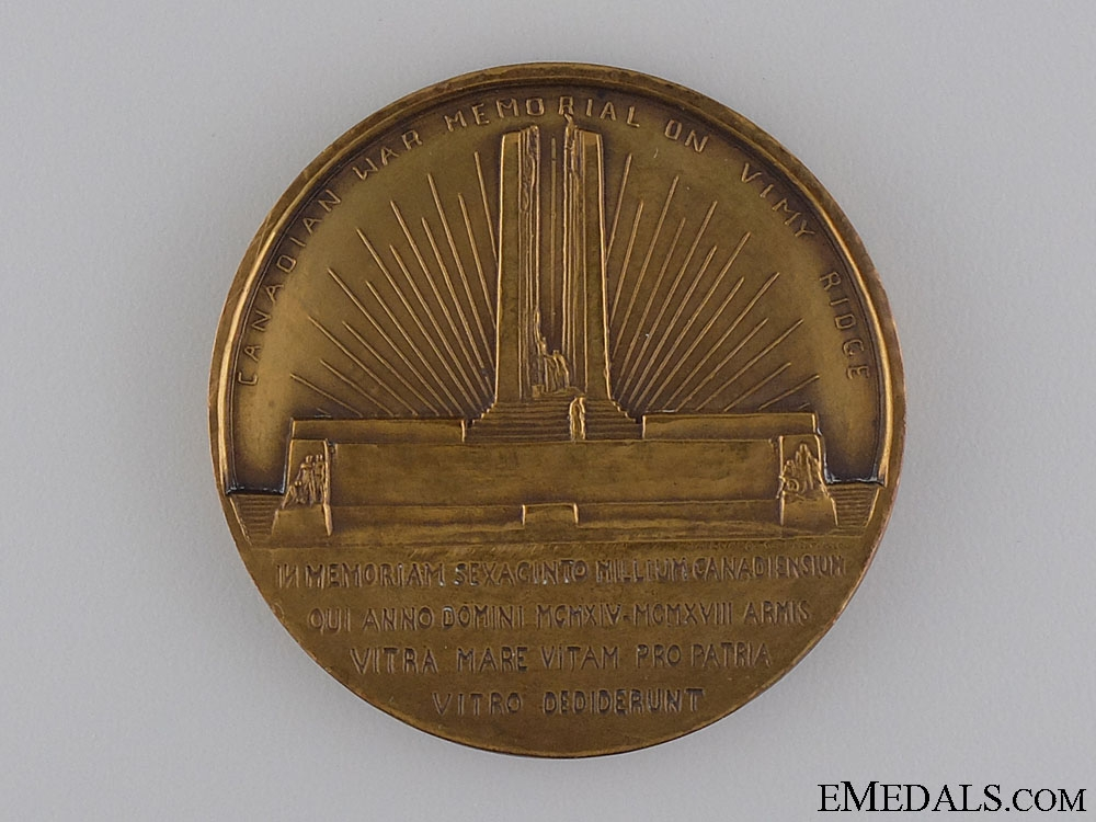 A 1936 Canadian Vimy Memorial Pilgrimage Medal
