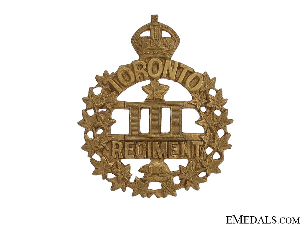 3rd Battlaion Toronto Regiment Cap Badge CEF