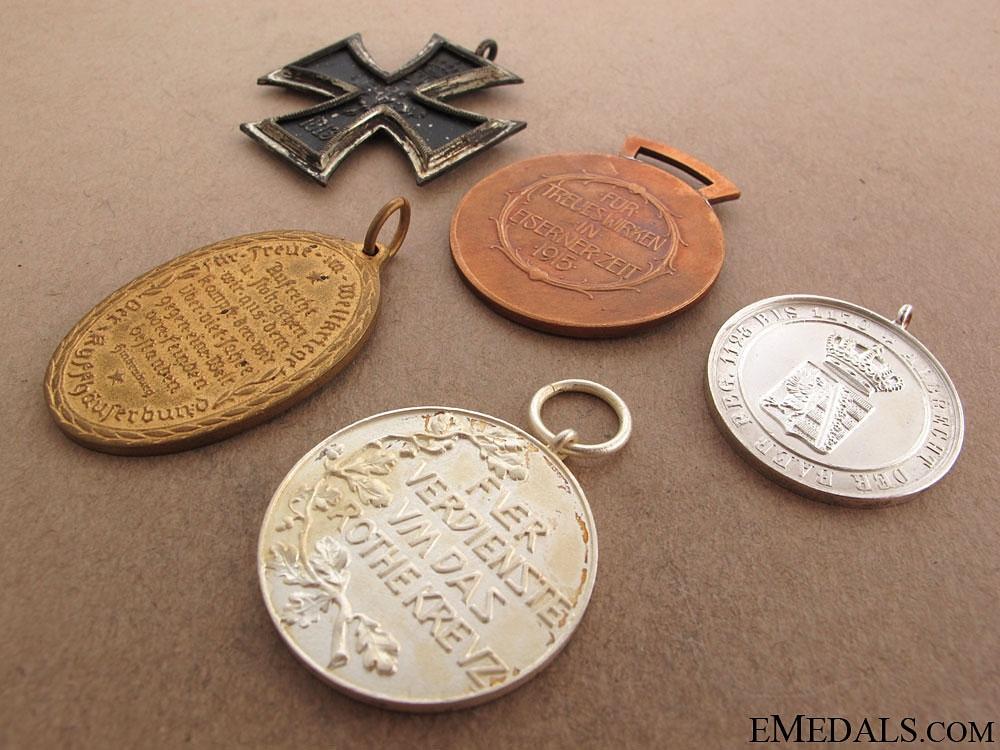 Five Imperial German Medals