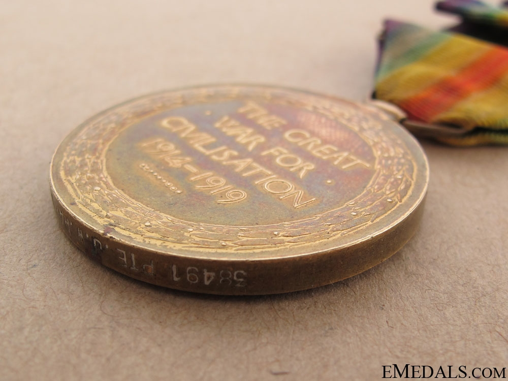 WWI Victory Medal - Yorkshire Regiment