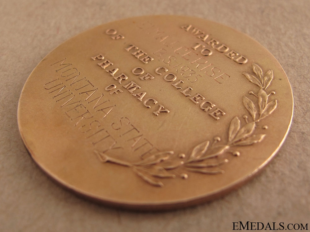 Gold Medal for Pharmaceutical Science