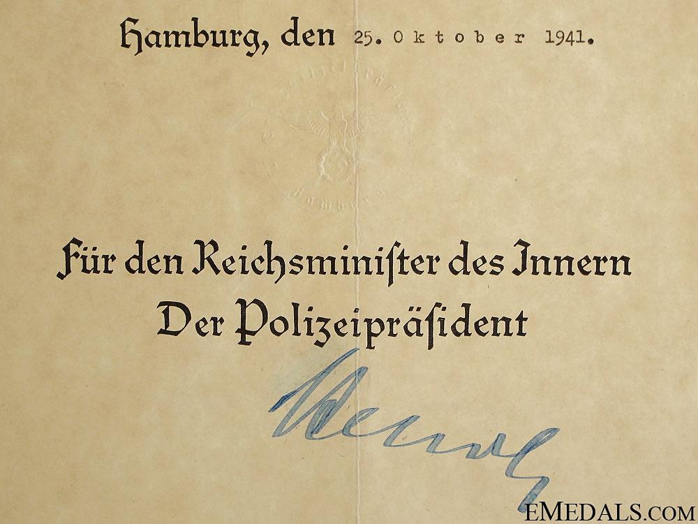 Promotion Document - Meister of the Schutzpolizei