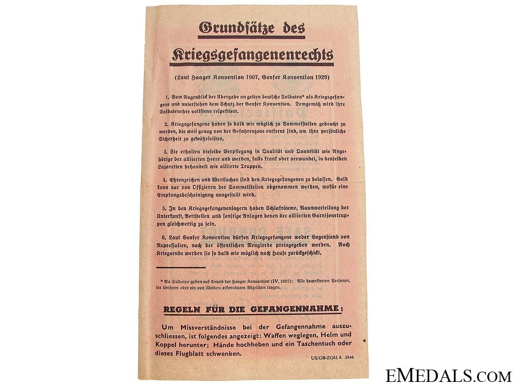 Safe Conduct Pass 1944