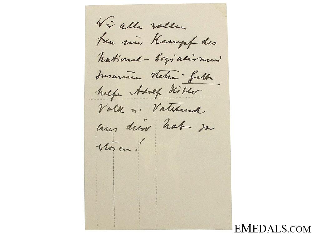 August Wilhelm Prinz Von Preussen Signature