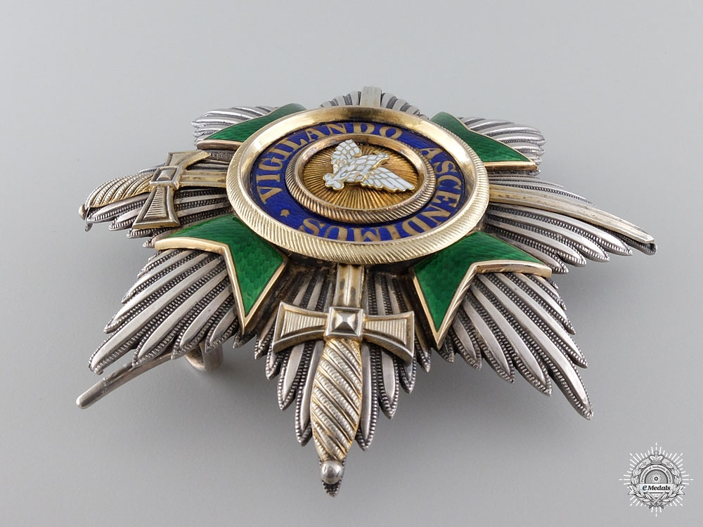 A Saxe-Weimar Order of the White Falcon with Swords; Grand Cross Star
