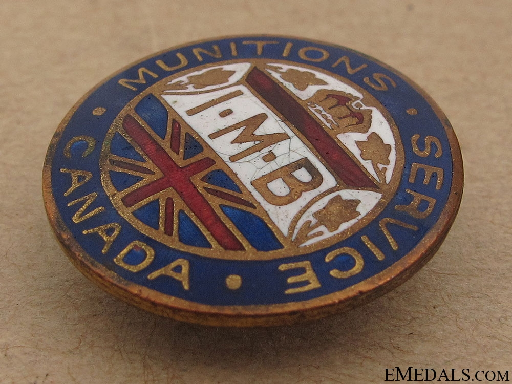 WWI Canadian Munitions Service Lapel Badge