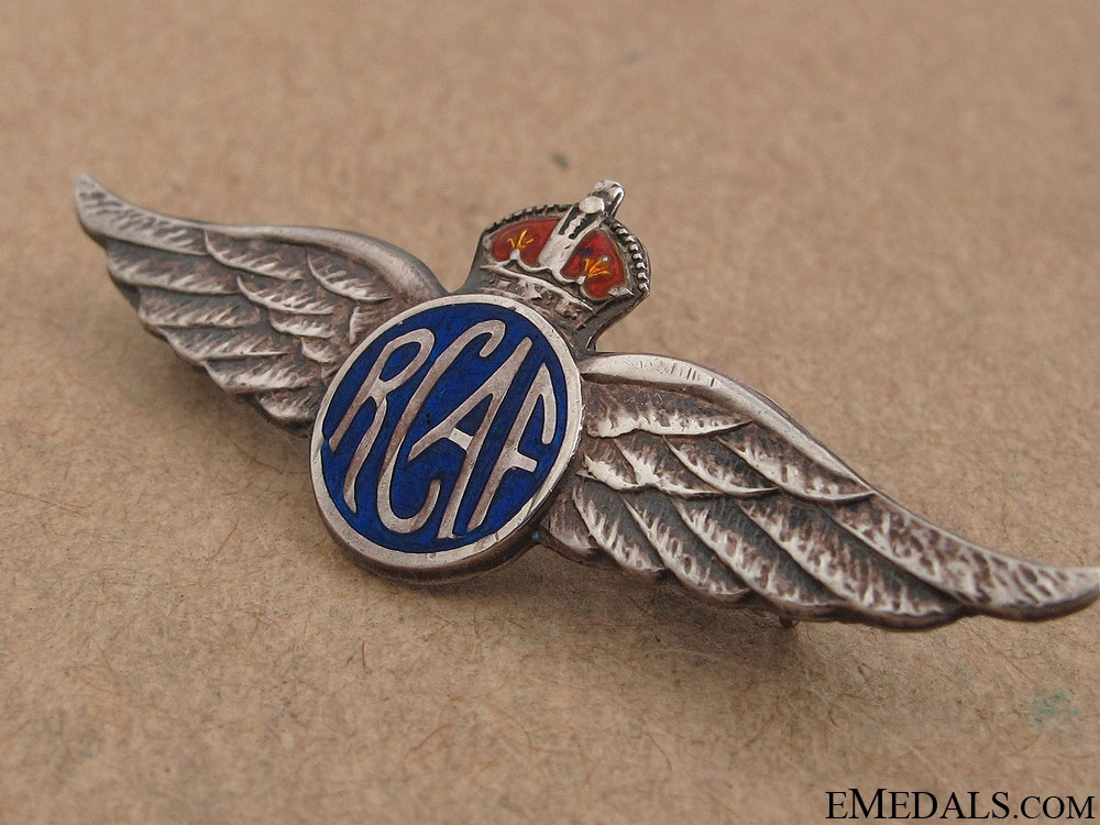WWII RCAF Sterling Silver Pin