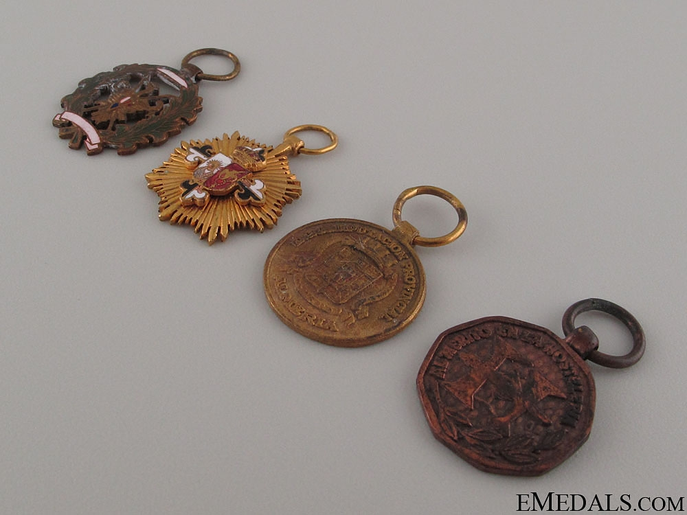Four Spanish Miniature Medals