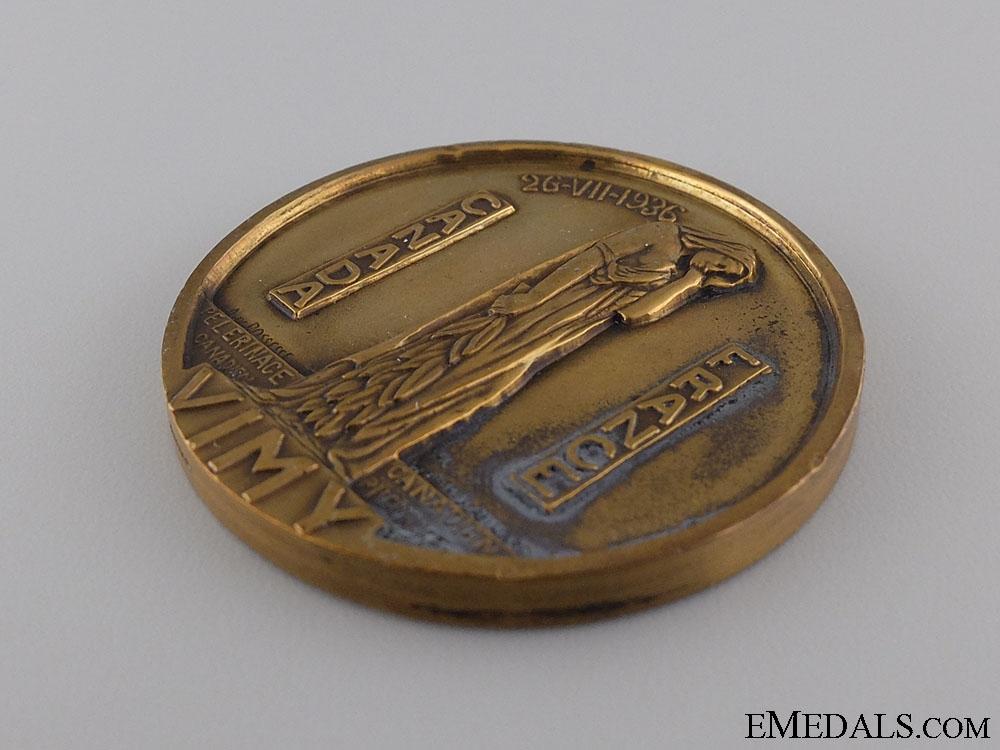 A 1936 Canadian Vimy Memorial Pilgrimage Medal