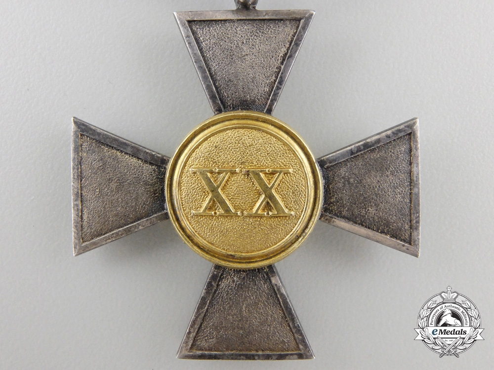 A Prussian Reserve Long Service Decoration; 1st Class Cross