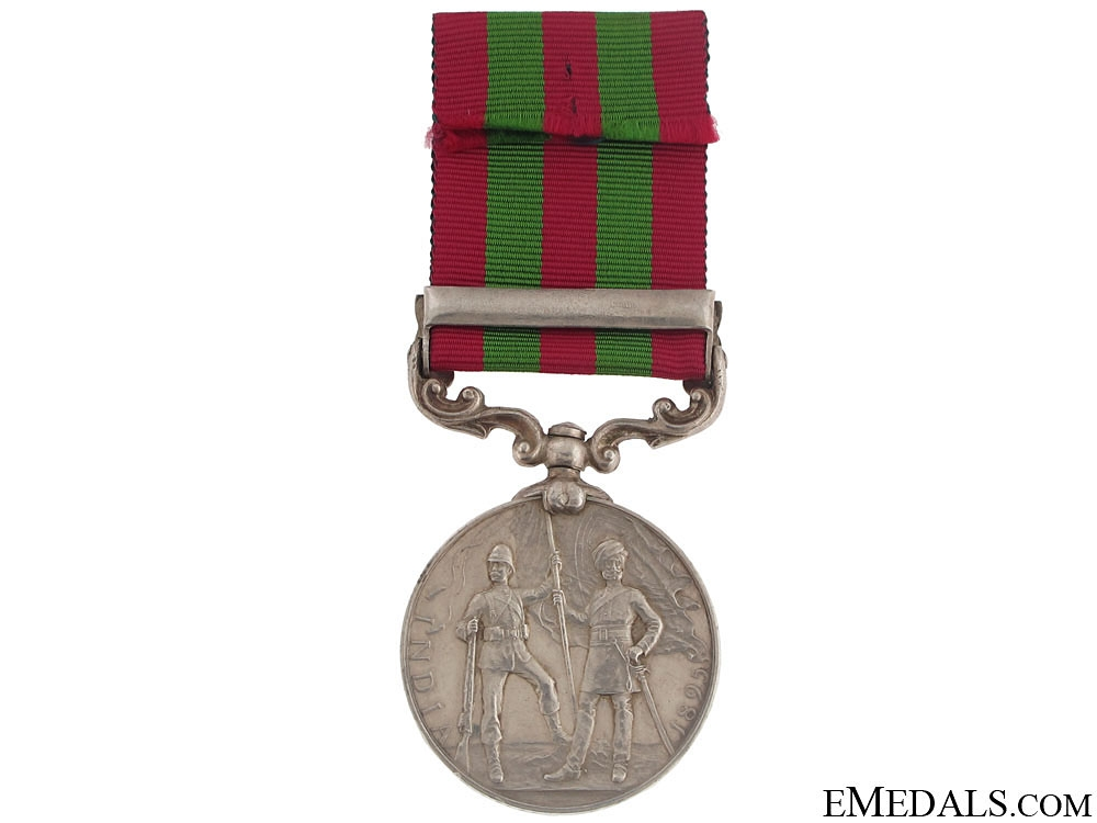 A Rare India Medal to the 4th Kashmir Rifles - Defence of Chitral