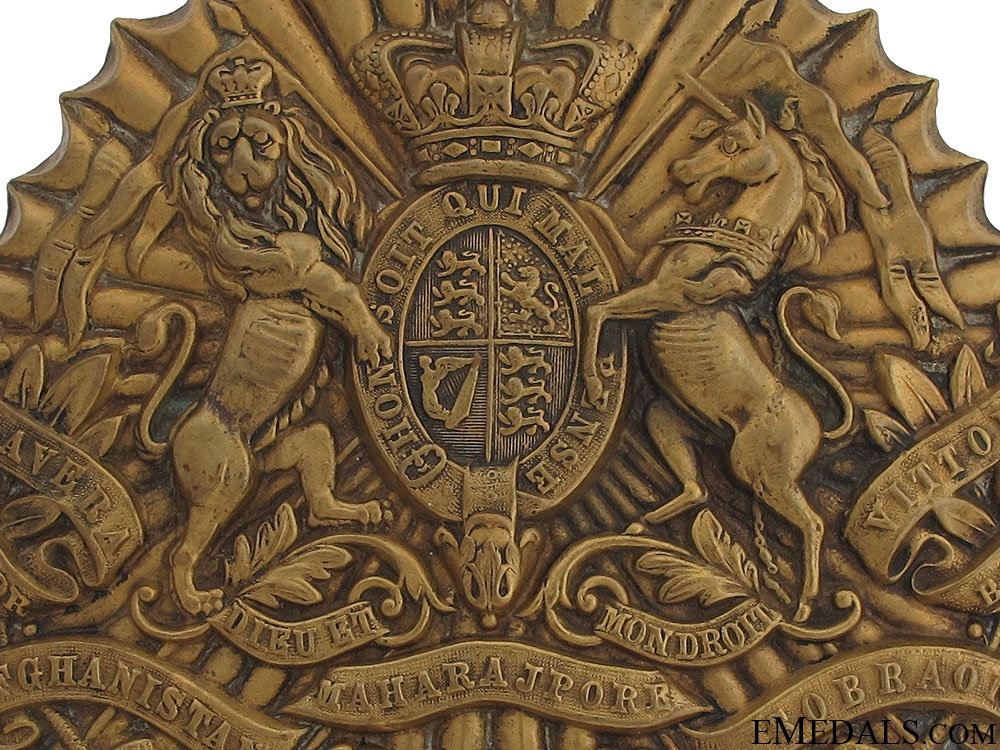 A Victorian 16th (Queen's) Lancers Helmet Plate