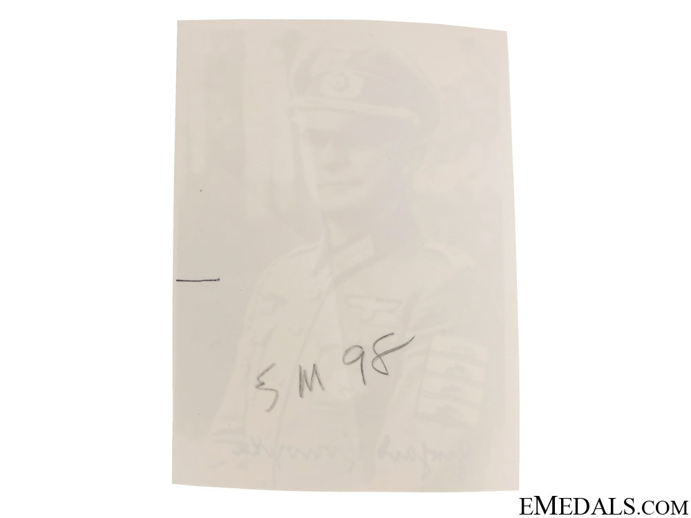 An Army KC Winner Signed Photograph