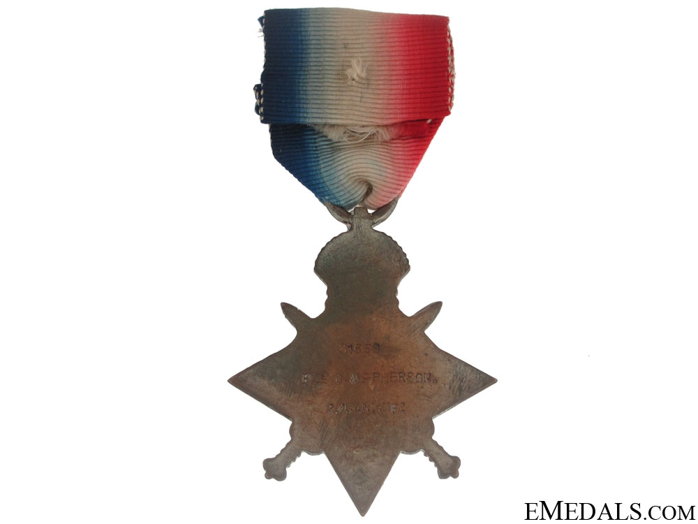 1914-15 Star - Canadian MM Recipient