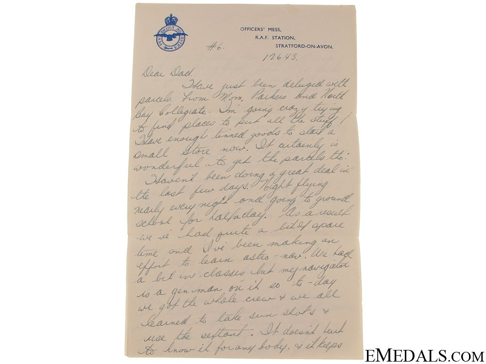 A Collection of Letters from Canadian Pathfinder Pilot KIA