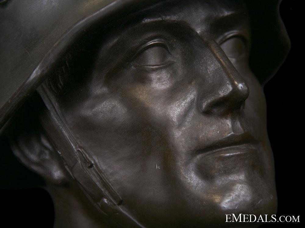 An Army (Heer) Bronze Statue
