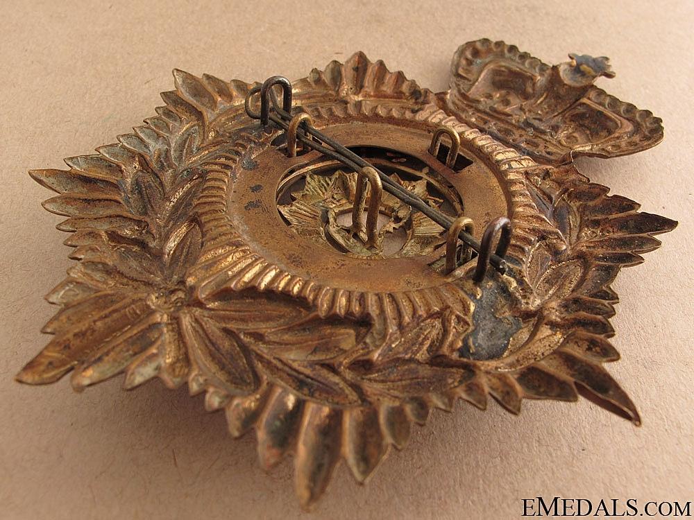 Victorian Bedfordshire Regiment Helmet Plate