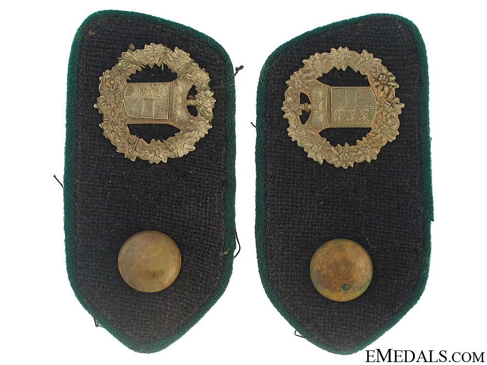Two Pairs of Italian Collar Tabs