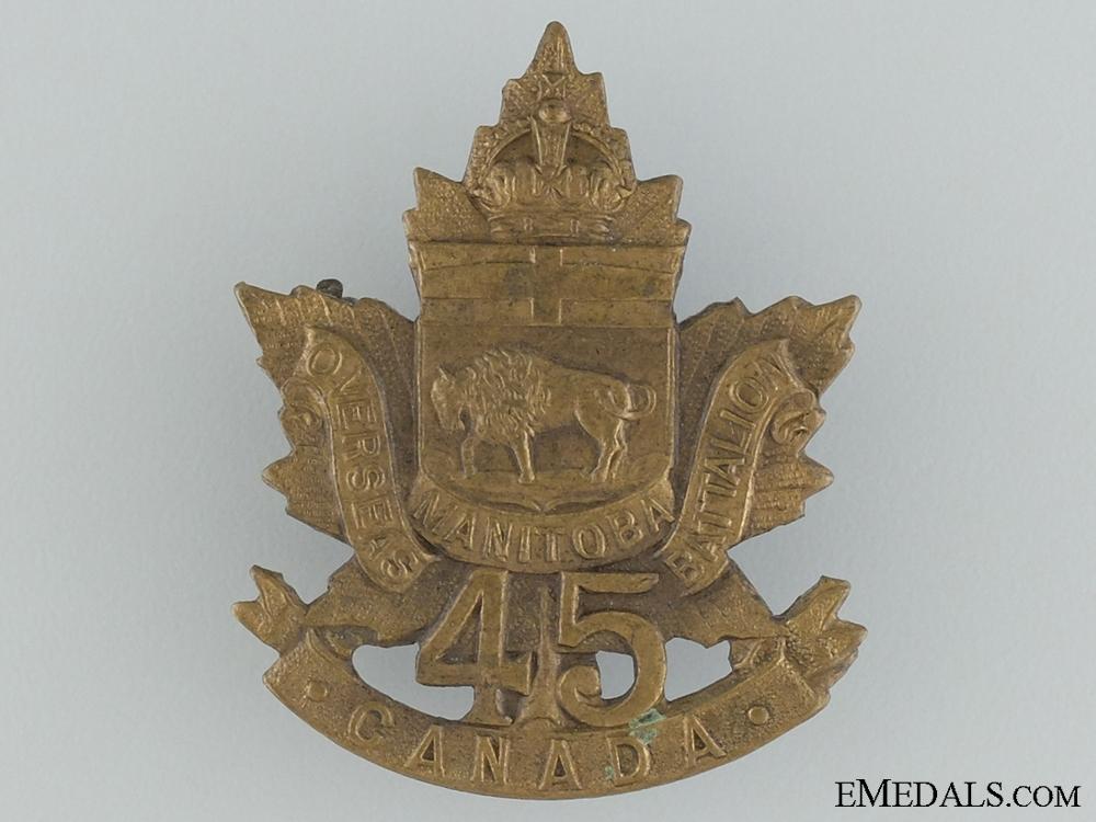 45th Battalion CEF (Brandon Manitoba) Cap Badge CEF