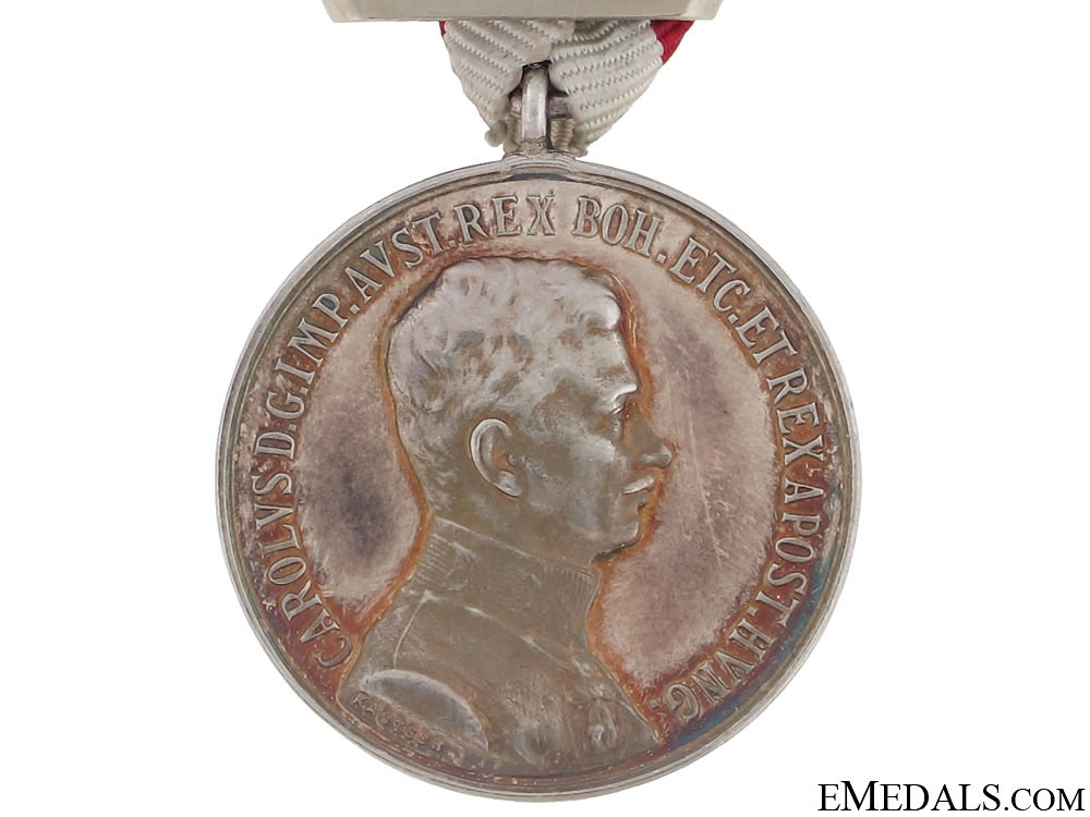 Silver Bravery Medal 1st. Class – Emperor Karl