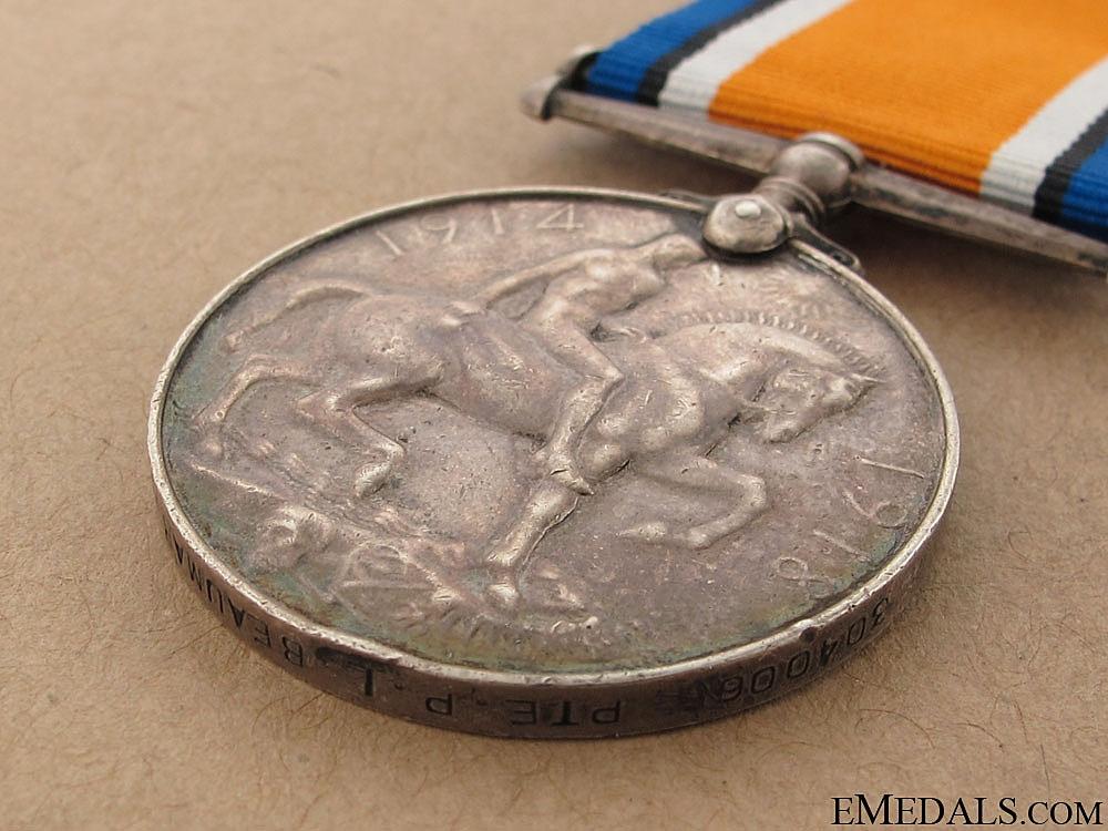WW1 War Medal - Central Ontario Regiment