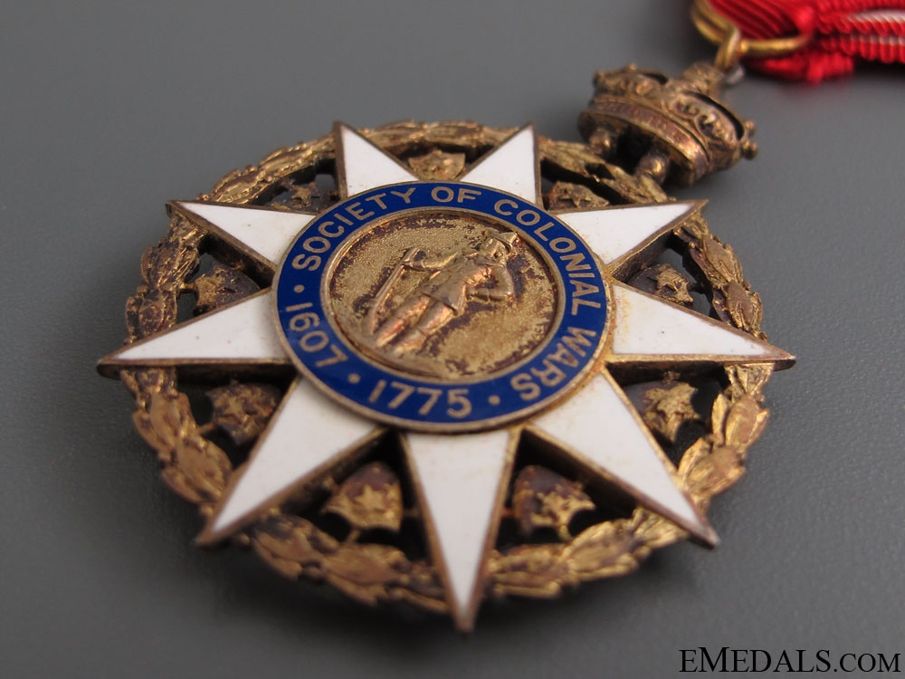 Society of Colonial War Membership Medal