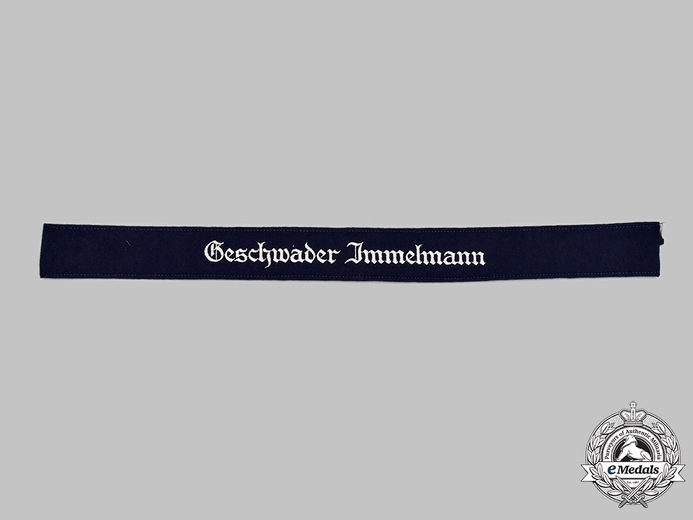 Germany, Luftwaffe. A Mint and Unissued Geschwader Immelmann EM/NCO's Cuff Title