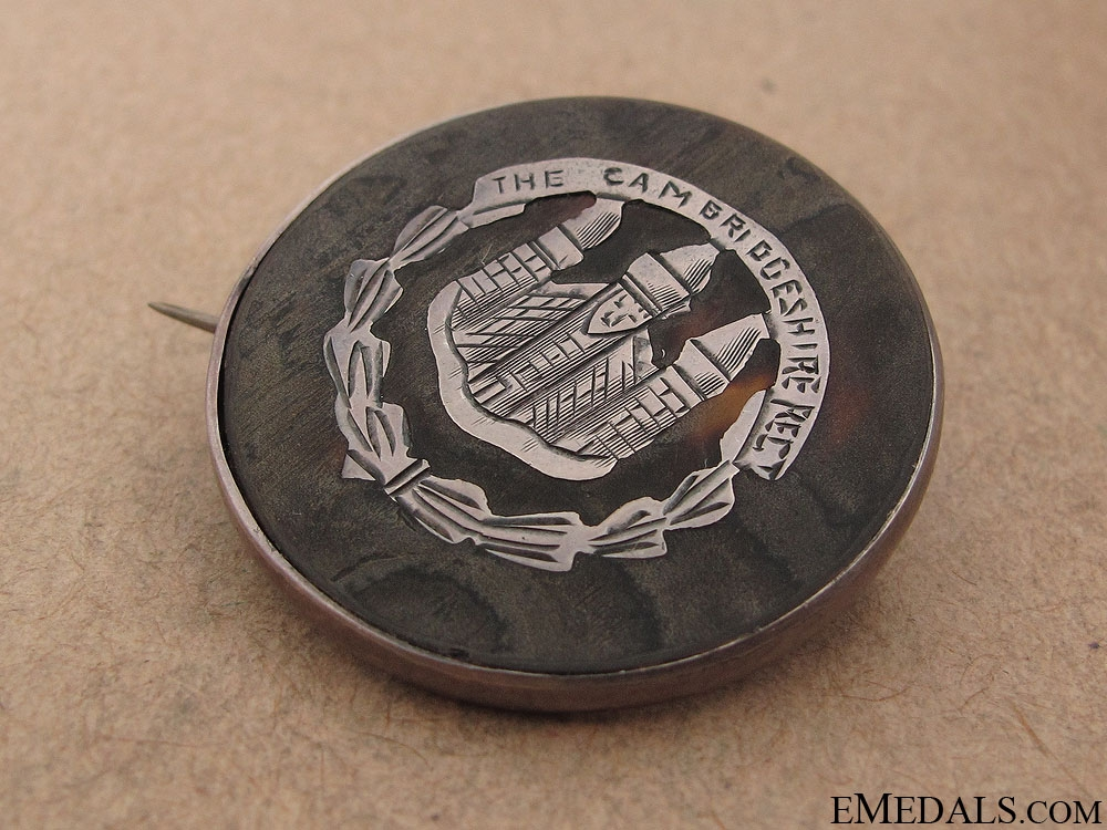 WWI Cambridgeshire Regiment Sweetheart Pin