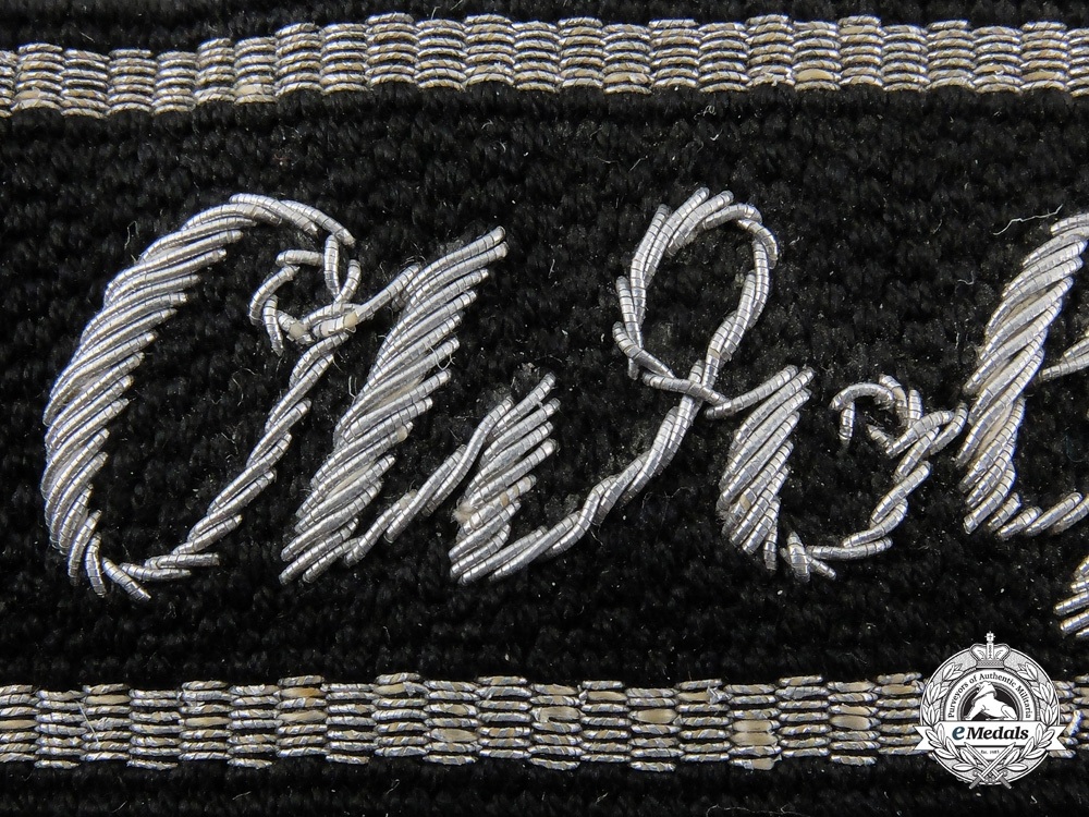 An SS AH Division Officer's Cufftitle