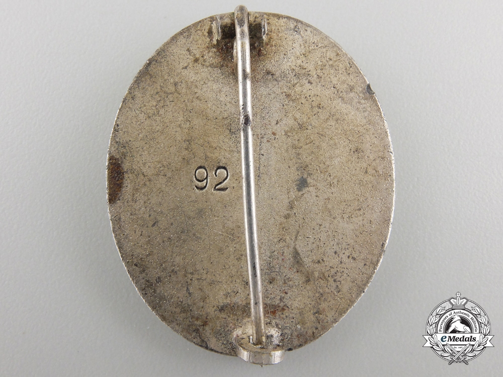 A Silver Grade Wound Badge by Josef Rückert & Sohn