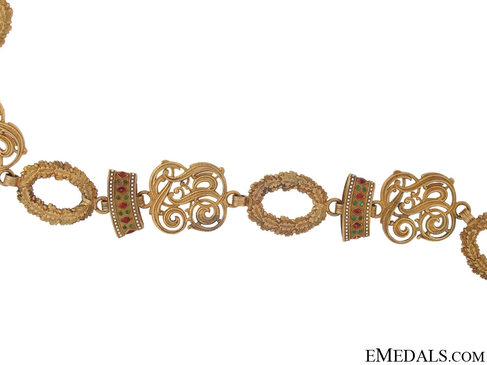 An Outstanding Order of the Iron Crown Collar Awarded to General Alfred Edler von Schnek