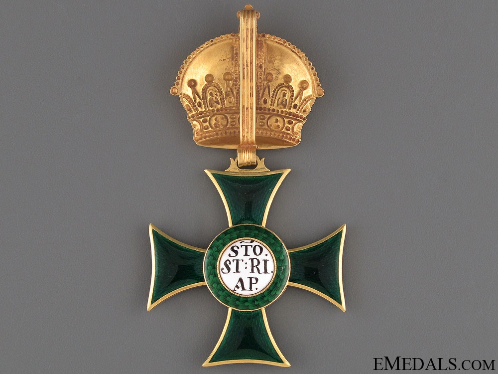 A Napoleonic Austrian Order of St. Stephen in Gold