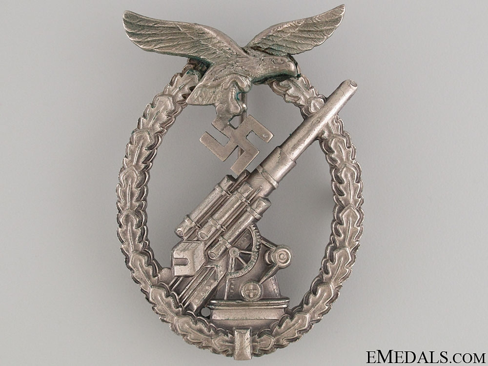 An Early Cased Flak Badge by Brehmer