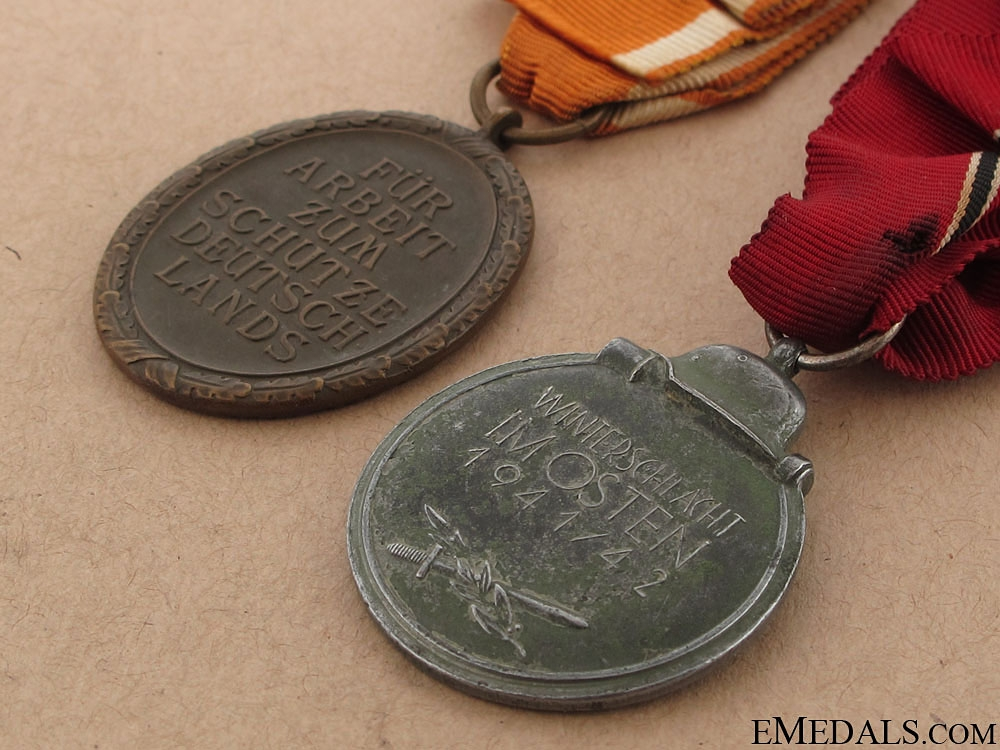 East Medal & West Wall Medal Pair