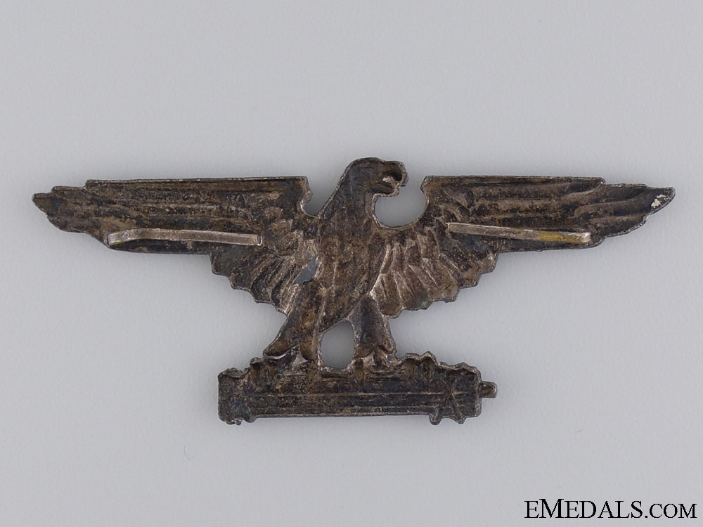 An Officer's Peaked Cap Badge of the Italian SS