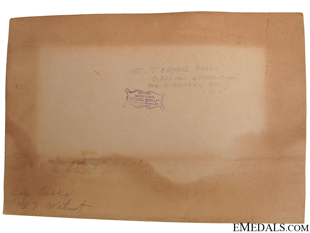WWI Officers School Irkutsk Siberia 1918