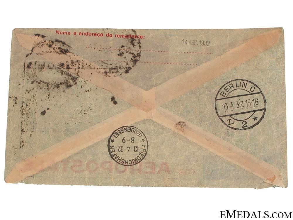 LZ 127 Graf Zeppelin Air Mail Envelope 1932