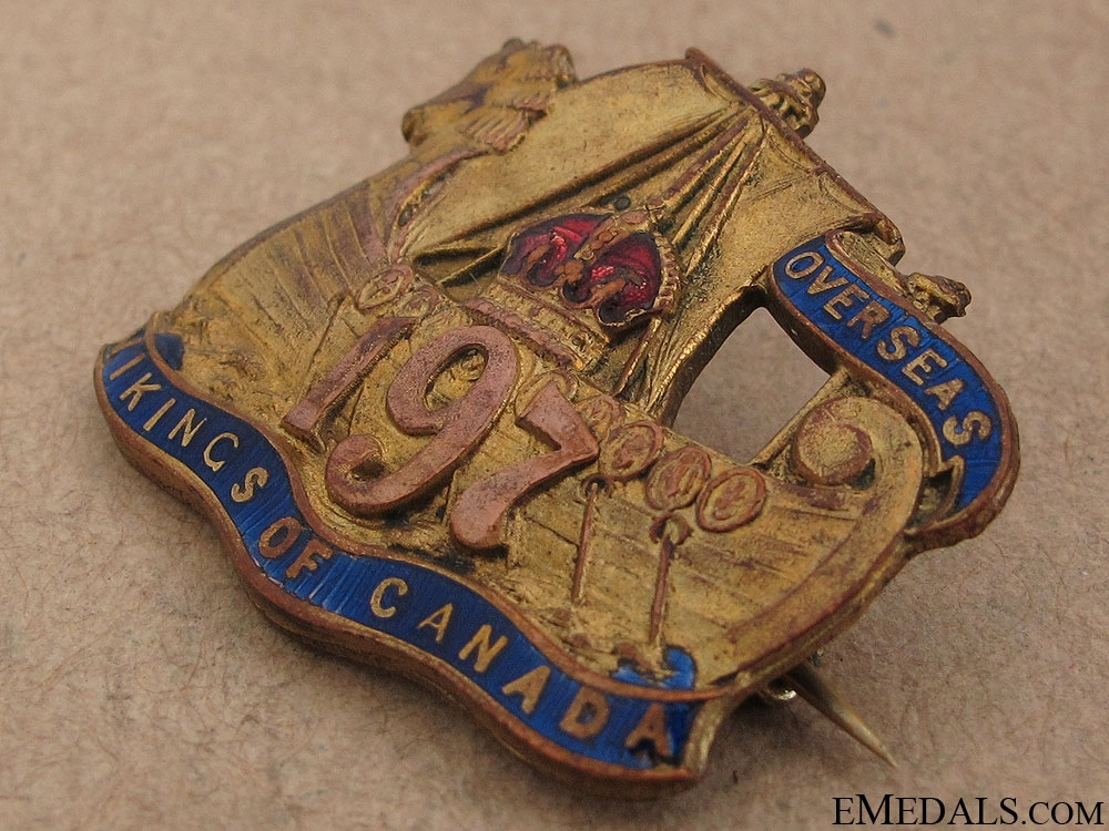 WWI 197th Infantry Battalion Pin CEF